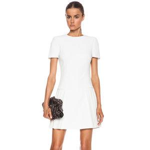 Alexander McQueen White Pleated Mini Dress
